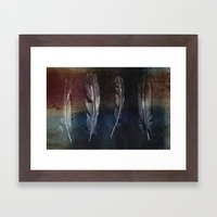 Rusty Feathers Framed Art Print