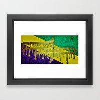 Trombone, Mardi Gras Framed Art Print