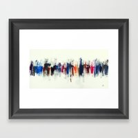 City VII - Roses Framed Art Print