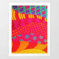 THE FASHIONISTA - Bright… Art Print