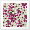Spring Blossoms Abstract  Art Print