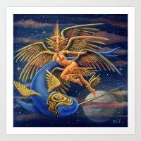 Live Painting: Moon Trib… Art Print