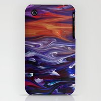 iPhone Cases featuring Stormy Sunset Sea by Jen Art And Design