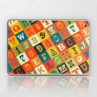VINTAGE ALPHABET Laptop & iPad Skin