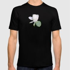 Lotus. Mens Fitted Tee Black SMALL