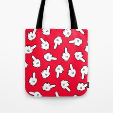 HATERS GONNA HATE! Pattern in red Tote Bag
