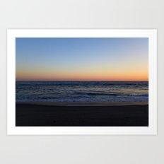 LA Gradient Sunset Art Print
