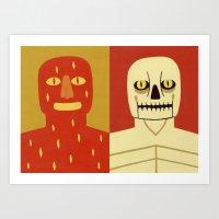Fire And Bone Art Print