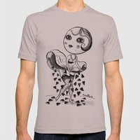 HEART RAIN Mens Fitted Tee Cinder SMALL