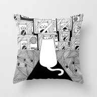 Honey! The Cat Is Watchi… Throw Pillow