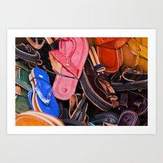 Flip-Flops Art Print