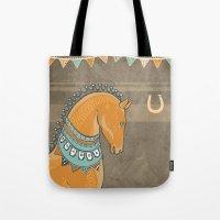 Horse Head - Chocolate Tote Bag