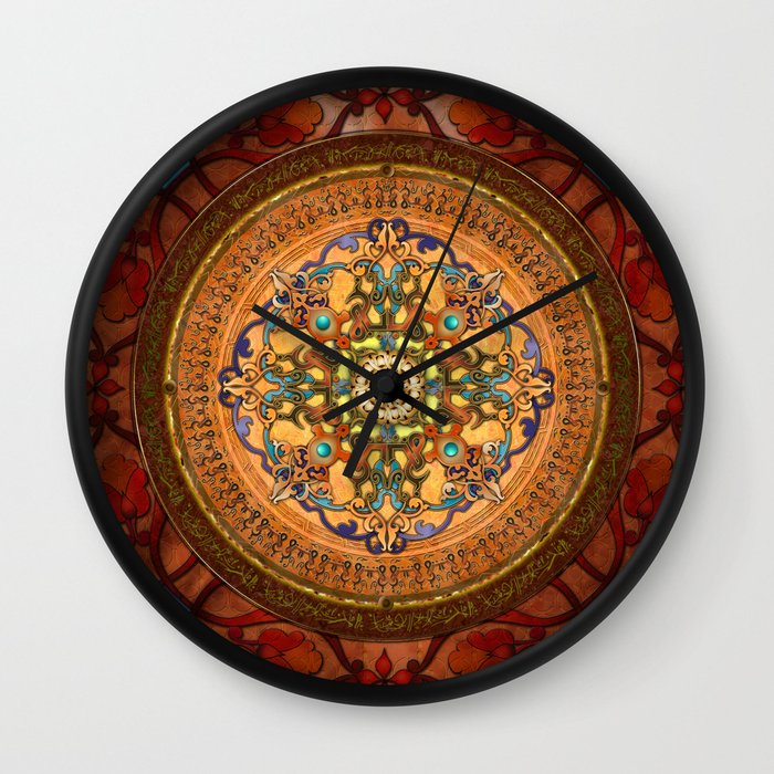 Mandala Arabia Wall Clock by Bedros Awak