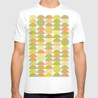 Geometric Juice Mens Fitted Tee White SMALL
