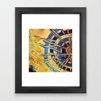 Compass Dial Framed Art Print