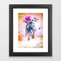 The spaceman & the octopus Framed Art Print