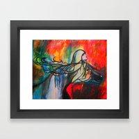 Chasing The Rain Framed Art Print