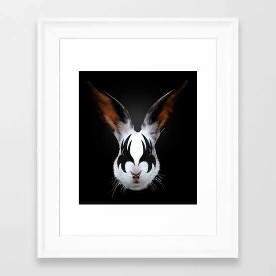 Kiss of a Rabbit Framed Art Print