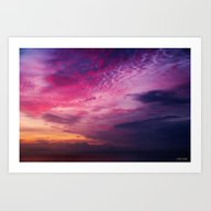Art Print featuring Red Sky Sunrise by Roger Wedegis