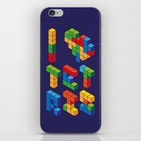 I Heart Tetris iPhone & iPod Skin