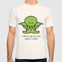 Happy Thulhu Mens Fitted Tee Natural SMALL