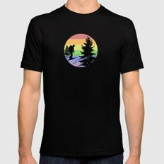 Hiking Black Mens Fitted Tee SMALL