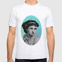Seductress Blue Mens Fitted Tee Ash Grey SMALL