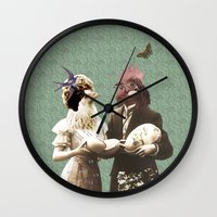 Mr & Ms Chick Wall Clock