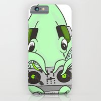 iPhone & iPod Case featuring CHTULU DJ (alternate color Scheme) by Hurtin Albertan