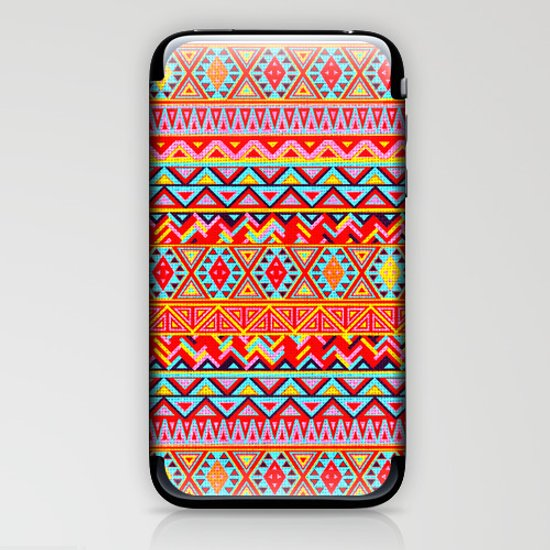 India Style Pattern (Multicolor) iPhone & iPod Skin