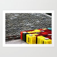 Yellow & Red Touches Art Print