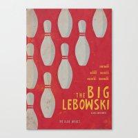 The Big Lebowski - Movie Poster Canvas Print