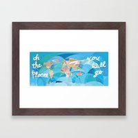 Oh the Places You will Go Framed Art Print