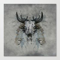 Something is squeezing my skull! Canvas Print