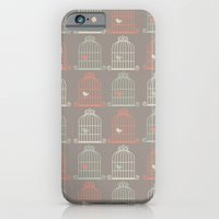 iPhone & iPod Case featuring Bird Cage Pattern, Illustration, Shabby Chic, Vintage, by Shabby Studios Design & Illustrations ..