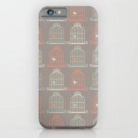 Bird Cage Pattern, Illus… iPhone 6 Slim Case