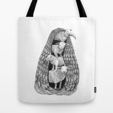 Stack of Sheep- Feathered Tote Bag