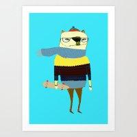 Bear Skateboarder, Skate… Art Print