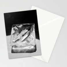 2 Cigarettes In An Ashtray Stationery Cards