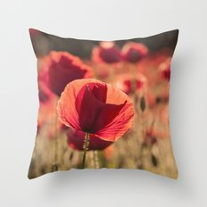 Poppies meadow Throw Pillow
