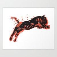Splatter Tiger Art Print