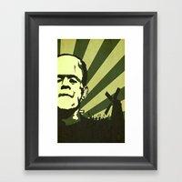 The Frankenstein Monster Framed Art Print