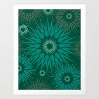 Dark Spiky Burst Art Print