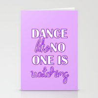 Dance Like No One is Watching - Purple Stationery Cards