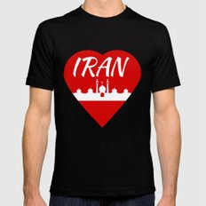 Iran Mens Fitted Tee Black SMALL