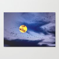 On a left along the moon and further to the east. Canvas Print