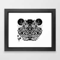 Scorn Pourer Framed Art Print
