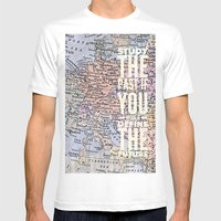study the past Mens Fitted Tee White SMALL
