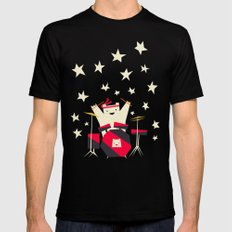 hit the drums!  Black SMALL Mens Fitted Tee