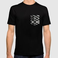 out of the circle Black SMALL Mens Fitted Tee